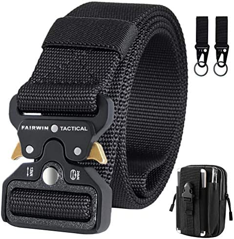 IDEATECH Black Tactical Belt Tactical Utility Belt Heavy Duty Mens Military Belts with Tactical product image