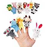 melissa Puppets . - pcs Animal Finger Puppets Cloth Doll Baby Kids Finger Plush Dolls Play Game Educational Tool Hand Learn Toys Party Bag Filler - by 1 PCs