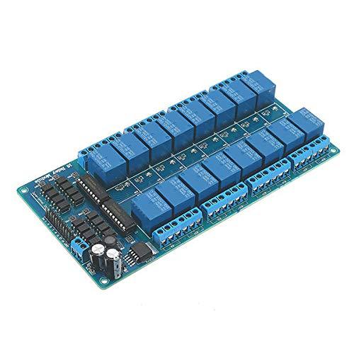GPQHSM Relè Modulo di Controllo Ethernet con 16 CHS Relay per LAN WAN Server Web RJ45 Android iOS S Parti elettroniche e Forniture