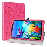 LiuShan Schutzhülle für LG G Pad 5 10.1 T600 Tablet PC (PU-Leder, um 360 Grad drehbar, mit Standfunktion, Nicht für LG G Pad X II 8.0 Plus V530) Tablet PC Rot rosarot