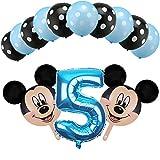 LIZHIOO Conjunto de Globos Partido 13pcs Blue Boy cumpleaños Globos Mickey Mouse Decoraciones Número 1 2 Globo de Helio de látex bebé Ducha Dot 3 años de Juguetes de los niños (Color : Violet)