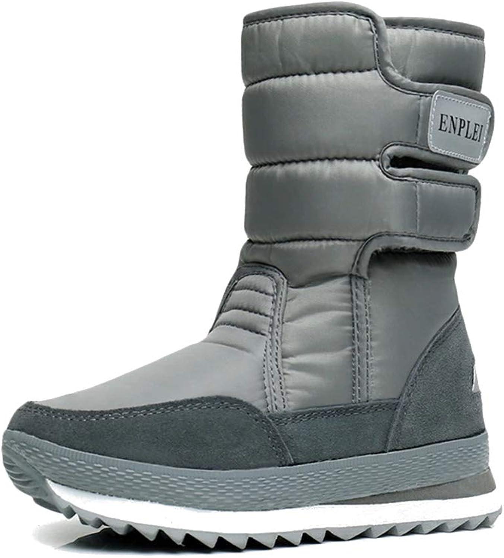 BOZEVON Womens Snow Boots - Autumn and Winter Plus Velvet Boots