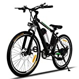 Aceshin 26 inch Electric Bike Adult Electric Mountain Bike, Electric Bicycle 20Mph with Removable 36V 8AH Lithium-Ion Battery 250W Motor 21 Speed Gear (Green)