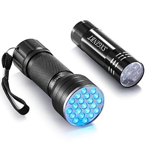 Ultraviolet Flashlight, UV Led Blacklight, SXGINBT UV Ultraviolet Flashlight 3W UV Shortwave 385nm/390nm LED Light for Pet Urine Detection(21 LED)