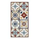 DON LETRA Alfombra Vinílica de Baldosas para Salón y Cocina, 80 x 40 cm, Antideslizante y Lavable, Grosor de 2 mm, Color Beige, ALV-038