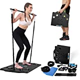BARWING Portable Home Gym Full Body Workouts Equipment Resistance Workout Set for Home, Office or Outdoor with Resistance Bands and Fitness Board Push-up Handle