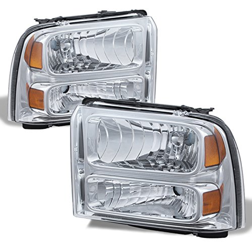 For 05-07 Ford F-Series Superduty 05 Excursion Headlight Front Lamps Direct Replacement Left + Right
