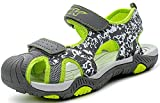 Zapatillas de Deporte al Aire Libre Sandalias del niño de Verano Playa Piscina Las Zapatillas de Deporte(Niño/Niño pequeño/Niños grandes-verde-30)