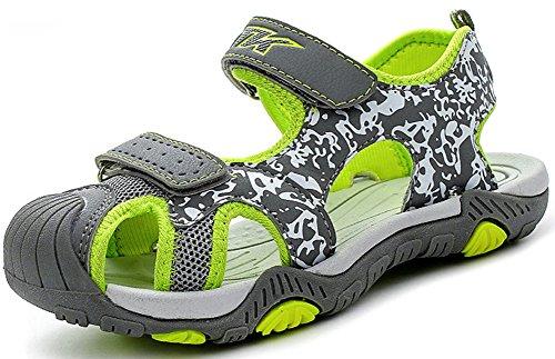 Zapatillas de Deporte al Aire Libre Sandalias del niño de Verano Playa Piscina Las Zapatillas de Deporte(Niño/Niño pequeño/Niños grandes-verde-31)