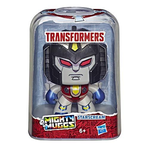 Transformers Mighty Muggs Starscream, 10 cm große Figur mit drei verschiedenen Emotionen, ab 6 Jahren