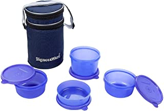 Signoraware Executive Lunch Box Set 4-Pieces Violet
