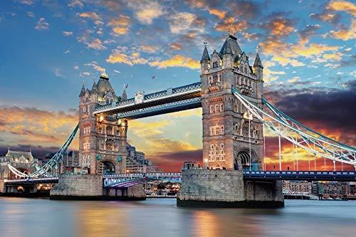 Puzzle de 1000 Piezas para Adultos-Edición Premium Papel Grueso,Puzzles para Adultos,Rompecabezas de Piso Juego de Rompecabezas y Juego Familiar(70x50cm) (Tower Bridge)