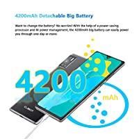 CUBOT P40 Smartphone 6.2 Pollici HD+ Waterdrop Android 10 4GB 128GB Quad Camera Batteria 4200mAh Supporto NFC Face ID Dual SIM Cellulare Nero #5