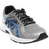 ASICS Men's Gel Contend 3 Running Shoe, Silver/Electric Blue/Black, 9.5 4E US