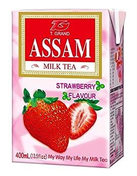 Assam Strawberry Milk Tea 13.5 Fl Oz 24 Count