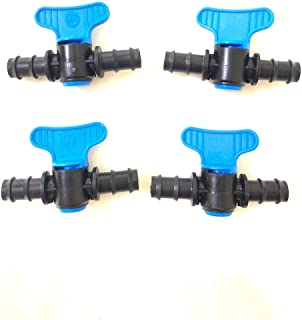 """HYLAN Garden Water Connectors - 4pcs 13mm garden drip irrigation systems switch 1/4"""" water hose connector PE tube coupling..."""