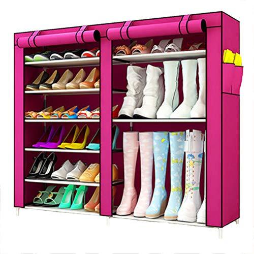 Wanforjewellery 2 * 6 vouwkast schoenenrek, stofdichte stoffen schoenenkast schoenen, 120(L)*110(W) 30(H) cm