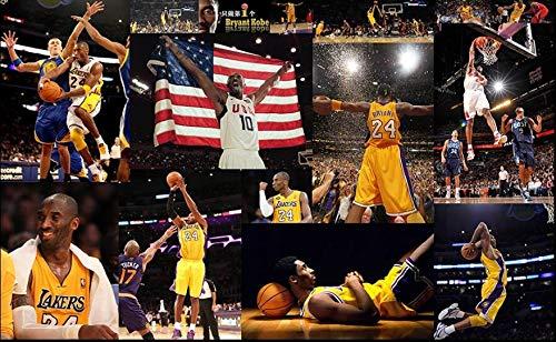 Fotobehang basketbal kobe poster tv achtergrond wooncultuur muurschilderbehang behang voor muur (B)200*(H)140cm Pro