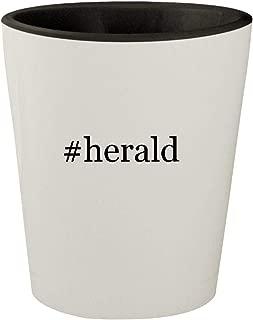 #herald - White Outer & Black Inner Hashtag Ceramic 1.5oz Shot Glass