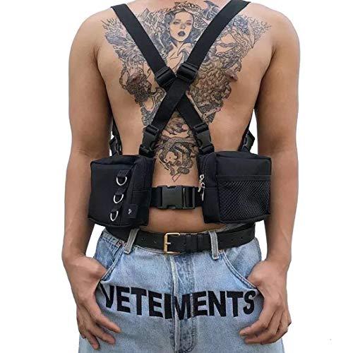 Acoser Chest Front Bag Sacs à Dos bandoulière Poitrine Sac Femmes Tactique Gilet Hip Hop Fonctionnel Streetwear Rig Sac