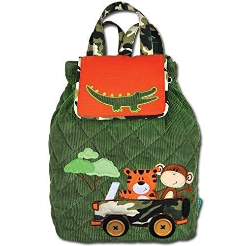 Kinderrucksack Kinder Rucksack Stepprucksack aus Baumwolle mit Zoomotiv Safari mit Krokodil Tiger und AFFE Kindergartenrucksack Kindergarten