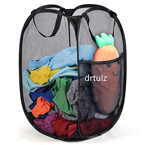 PetOde Mesh Popup Laundry Hamper - Portable, Durable Handles, Collapsible for Storage and Easy to...