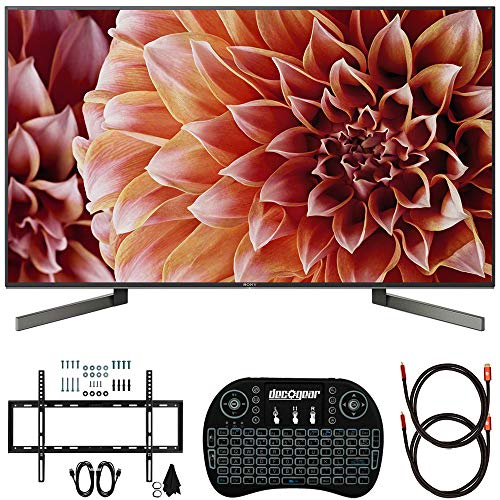 Sony XBR49X900F 49-Inch 4K Ultra HD Smart LED TV (2018) Bundle with Deco Mount Slim Flat Wall Mount Ultimate Bundle, Deco Gear Wireless Keyboard and 2X Deco Gear 6ft HDMI Cable