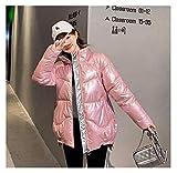 Hermosa chaqueta de invierno para mujer parka de invierno para mujer, abrigo de invierno para mujer, parka de plumón, parka de invierno para mujer (color: rosa, tamaño: mediano)