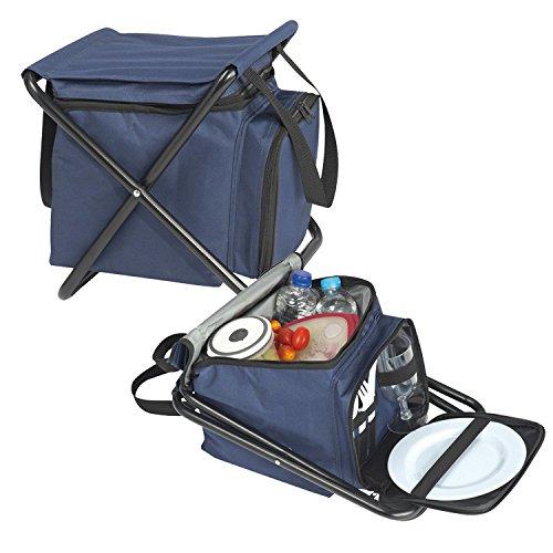 sedia da picnic pic nic con borsa termica e stoviglie in plastica