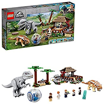 LEGO Jurassic World Indominus rex vs Ankylosaurus 75941 Awesome Dinosaur Building Toy for Kids Featuring Jurassic World Character Minifigures for Hours of Creative Fun  537 Pieces