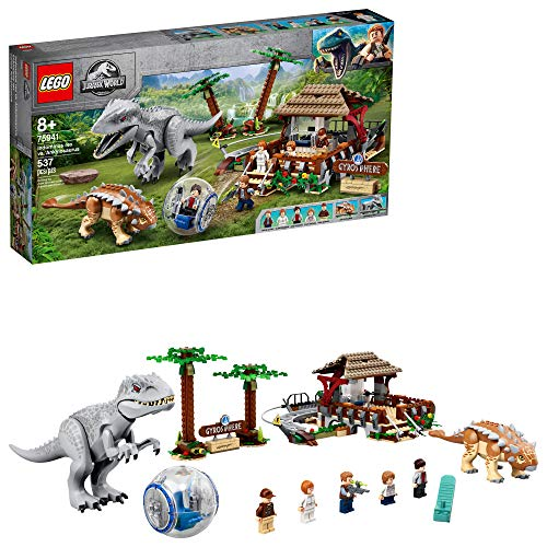 LEGO Jurassic World Indominus rex vs. Ankylosaurus 75941 Awesome Dinosaur Building Toy for Kids, Featuring Jurassic World Character Minifigures for Hours of Creative Fun, New 2020 (537 Pieces)