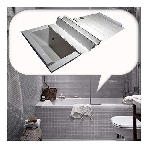 Badewannenabdeckung, Verdicken Sie Das wasserdichte Badezimmerregal Aus PVC Wärmedämmplatte Antibakterielle Behandlung Mehrere Größen (Color : White, Size : 1.75X0.75M)