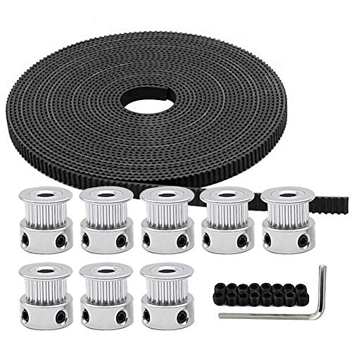 10 Zahnrad Pulley DE# Für RepRap 3D Drucker CNC 10M GT2 Zahnriemen Timing Belt