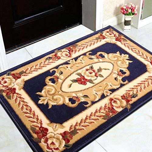 SGLMYD Indoor Of Outdoor Tapijt Thuis Antislip Mat Deurmatten Klassieke Perzische Oosterse Bloemen Decoratieve Tapijt voor Keuken Slaapkamer Badkamer Korte Paal Duurzaam Tapijt