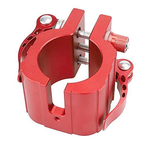 """MotuTech - Abrazadera con bisagra plegable para Zero 8X 10X 11X / SPEEDUAL 8"""" 10"""" 11"""" para Dualtron Spider Thunder DT3, anillo de fijación círculo, liberación rápida (rojo)"""