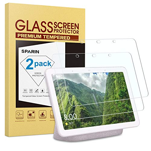 Great Features Of [2 Pack] Google Home Hub/Google Nest Hub Screen Protector, SPARIN Tempered Glass S...