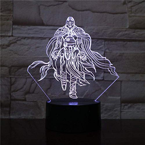 3D Illusion Lampe Led Nachtlicht Assassins Creed Altair Figur Acryl 7 Farbwechsel Schlaf WohnkulturKindergeschenk