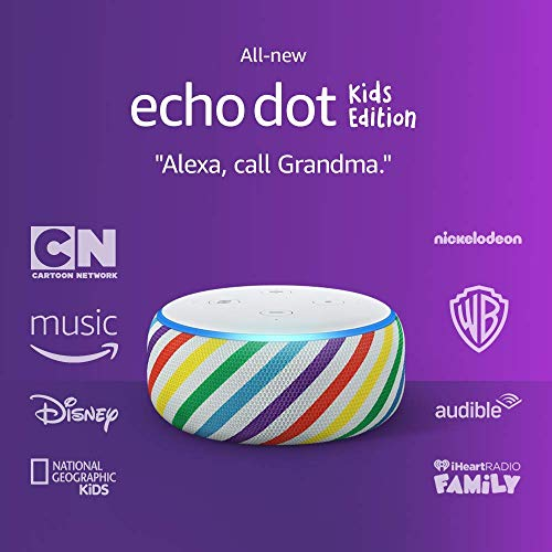 Echo Dot (3rd Gen) Kids Edition, an Echo designed for kids with parental controls - Rainbow