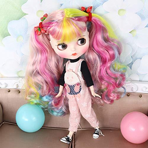 Mecotecn Blythe Doll, 1/6 Blythe Puppe Doll mit Make-up, Kleidung, 4 Farben Augäpfel, 9 Paare Hände, Schuhe