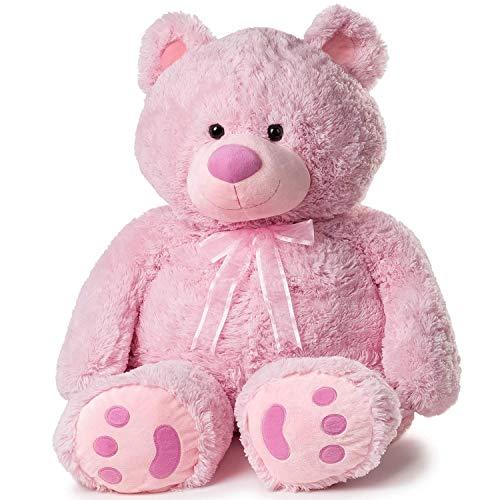 Peluche de oso rosa tamaño grande