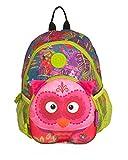 wildpack junior Kinderrucksack mit Plüschohren, Kita-Rucksack, Eule pink