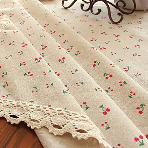 Nappes de Table Coton Nappe Lin Jardin Petites Marguerites Linge de Table Rectangulaire Japonais Hôtel Conférence 140X180cm Blanc Cerise