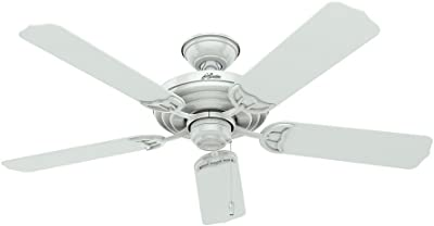 "Hunter Sea Air Indoor / Outdoor Ceiling Fan with Pull Chain Control, 52"", White"