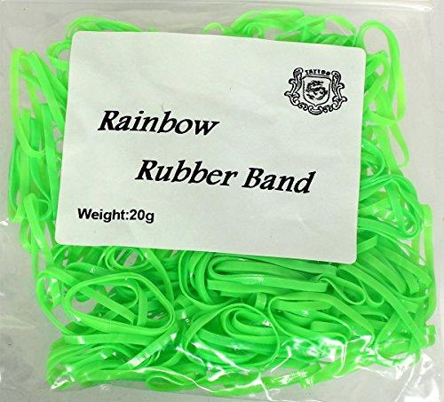 Sticker 20 g élastiques à Machine Vert pour machines env. 240 pièces Rainbow Bracelet en Caoutchouc bande de caoutchouc