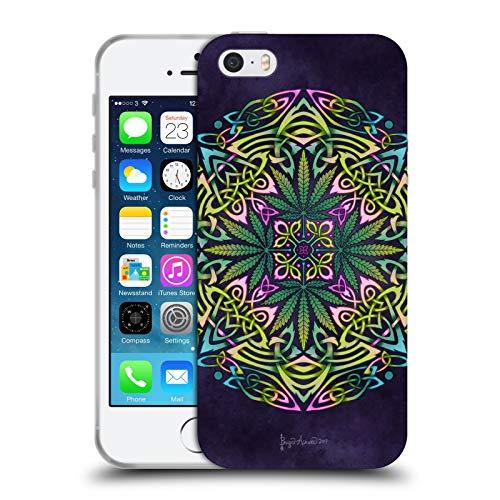 Head Case Designs Offizielle Brigid Ashwood Topf Blaetter Keltisch Soft Gel Huelle kompatibel mit Apple iPhone 5 / iPhone 5s / iPhone SE 2016
