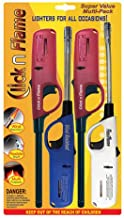 Click n Flame Utility Lighter 4-Pack for All Occasions Wind Resistant Flexible Shaft Multi Purpose Lighter BBQ Kitchen Candle Fireplace Grill Flexible Lighter