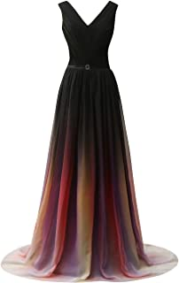 Gradient Prom Dress Formal Evening Gowns Chiffon Long Prom Party Dresses