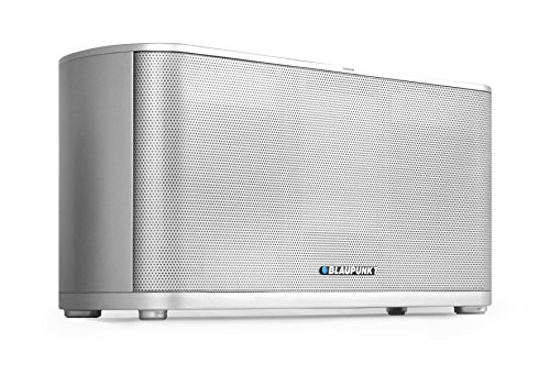BLAUPUNKT WF 500 WiFi Lautsprecher mit WLAN, AirPlay, Bluetooth, NFC, AUX-IN, 2x 20 Watt RMS silber