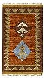 HAMID - Kelim Teppich Lori mit Geometrischem Oriental Design - 100% Wolle - Handgeknüpfter Kelim - Flurteppich, Wohnzimmer, Schlafzimmer, Wohnzimmer (D.3, 250x80cm)