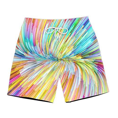 BRILIGHTEN Crayon Tekening Mens 3D Gedrukt Zwembroek Hoge taille Quick-Dry Zomer Strand Shorts met Verstelbare Trekkoord